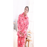 睡衣 加绒加厚睡衣套装 女士棉袄 冬季新款长袖夹棉睡衣 C1兔子