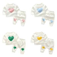 婴儿童装秋衣服秋装0岁1个月3男宝宝加绒保暖女童洋气套装5秋冬装