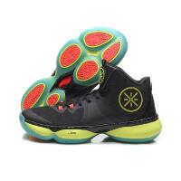 李宁男子网面减震回弹透气耐磨防滑中帮篮球专业比赛鞋ABAM075-1