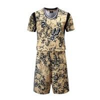 短袖篮球服套装骑士勇士湖人詹姆斯科比库里欧文训练比赛球衣比赛服队服diy印字