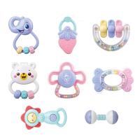 婴幼儿玩具 幼儿手摇铃玩具牙胶磨牙棒套装宝宝儿童礼盒装生日礼物 0114摇铃8件套装0114