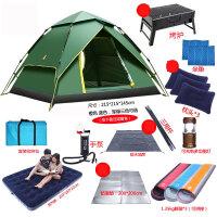 全自动户外帐篷3-4人野营单人2防雨两室一厅加厚双人野外露营速开