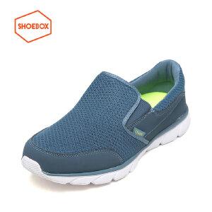 SHOEBOX/鞋柜春季新款休闲鞋男低跟套脚网布男鞋