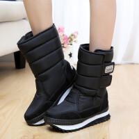 冬季新款女士雪地靴中筒防水防滑保暖加厚加绒短靴棉靴女靴子厚底