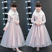 女童连衣裙冬装洋气冬裙女加绒长袖新年儿童公主裙秋冬裙子
