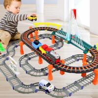 儿童玩具汽车赛车男孩女孩马斯小火车套装电动轨道火车