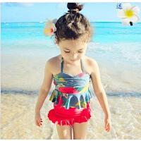 韩国儿童泳衣女童游泳衣中大童比基尼分体裙式泳装女孩公主宝宝