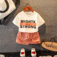 女宝宝夏季短袖童装套装女童夏装两件套婴幼儿童夏天衣服