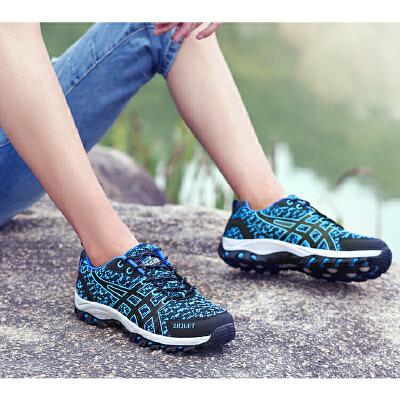 春季登山鞋防滑户外鞋女鞋透气徒步鞋男芝佳骆驼越野跑鞋
