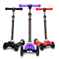 儿童滑板车四轮折叠闪光滑滑车2-12岁宝宝踏板车3岁6岁小孩