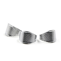 缝纫DIY手工工具 银色戒指顶针器 缝牛仔加厚面料指套箍 p3d