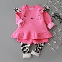 婴儿衣服秋冬装0-1-2-3-4岁女童衣服套装婴幼儿外出服公主潮