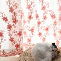 纱帘 成品田园窗帘沙帘白色窗纱布料卧室飘窗阳台纱穿帘