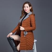 20180415053426794棉衣女中长款2017冬季新款韩版修身薄款中年羽绒轻薄棉袄外套