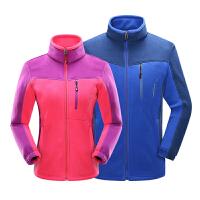 户外抓绒衣 男女冬季开衫加厚保暖外套