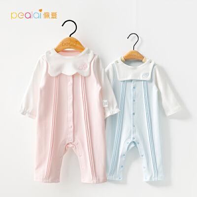 初生儿衣服外出婴儿爬爬服男女宝宝连体衣