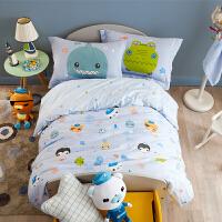 多喜爱家纺纯棉四件套卡通床品全棉套件儿童床上用品三件套海底总动员
