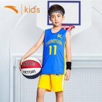 安踏童装男童篮球服中大童运动套装夏季2019新款儿童速干衣男孩DF