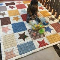 爬行垫儿童折叠游戏毯客厅卧室地垫婴儿爬爬垫可折叠水洗