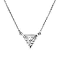 【网易考拉】BUCKLEY LONDON 镶钻三角形 项链 银白色