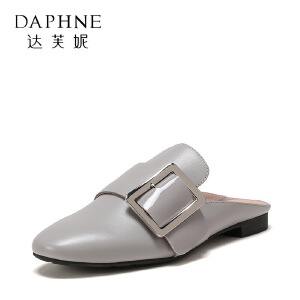 Daphne/达芙妮 春秋休闲平底单鞋穆鞋半拖单鞋女