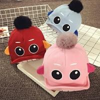 儿童鸭舌帽秋天宝宝帽子1-2岁冬季男女婴儿帽6-个月棒球帽韩版