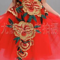 儿童礼服女童婚纱公主裙钢琴裙长款刺绣夏花童礼服女蓬蓬裙演出服