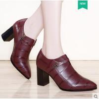 春夏季新款鞋韩版百搭妈妈鞋女士单鞋尖头高跟鞋女鞋日常休闲LHLKQ6300