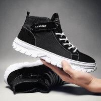 马丁靴男百搭黑色低帮短靴中帮战术靴冬季休闲鞋