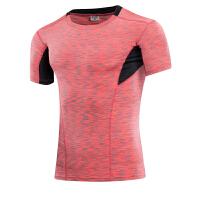 男士运动紧身衣 健身跑步紧身速干短袖衫弹力压缩T恤塑身衣服