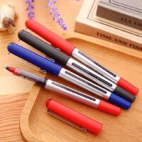 得力走珠笔直液式考试办公文具中性笔水笔签字笔宝珠笔12支装