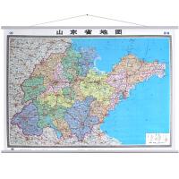 山东省地图挂图超大1.5米X1.1米办公室 高清防水 带挂杆挂绳 标准行政区划标注 交通信息 2017