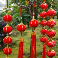 小红灯笼新年春节装饰挂饰灯笼串挂件新年春节装饰布置用品商场室内过猪年货创意小灯笼
