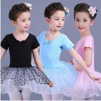 儿童舞蹈服装女童芭蕾舞裙秋连体表演服练功服幼儿合唱服蓬蓬纱裙