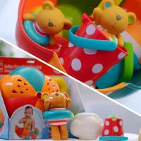 水鸭子儿童男女孩淋浴套装泰迪戏水宝宝洗澡玩具 漂浮花洒喷