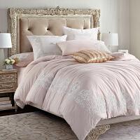 家纺2017秋冬新款棉被子60支磨毛四件套 秋冬加厚美式六件套1.8m床上用品床盖款