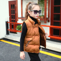 2018秋季新款冬装女童棉马甲2017新款韩版中大童羽绒棉马夹儿童装女孩加厚外套