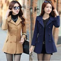 韩版妮子风衣呢子大衣服短款30岁40中年女装秋冬装毛呢外套尼子潮