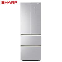 夏普(SHARP) 风冷无霜BCD-333WFXE-S 变频节能 精准控温 法式四门冰箱