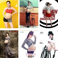 2018051044466新款影楼摄影孕妇写真个性时尚拍照孕妇装孕味服拍摄服装