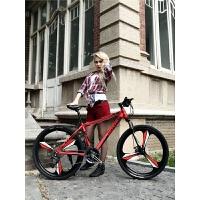 山地车自行车男女变速双碟刹减震学生越野单车青少年整车