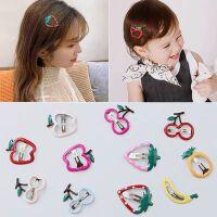 韩国可爱水果发夹少女儿童bb夹ins网红侧边夹子头饰镂空草莓顶夹