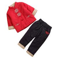 儿童唐装冬男童中国风汉服宝宝周岁礼服套装