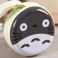 可爱卡通龙猫零钱包 马卡龙金属拉链耳机硬币包 促销节日礼物礼品