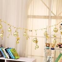 圣诞装饰品彩球铃铛串圣诞树挂件商场酒店橱窗吊饰圣诞节铃铛串