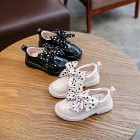 女童皮鞋蝴蝶�Y漆皮�涡��和�公主鞋表演鞋