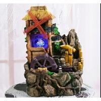 小喷泉流水水景家居装饰品摆设风水轮摆件结婚礼物工艺礼品 流水一个