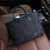 男士包包手提包商务背包包潮休闲包 深蓝色 迷彩