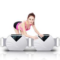 懒人甩脂机抖抖机瘦腿瘦腰瘦肚子神器减肥机腰带震动健身器材 1_绚丽白-科技创新款-强效减肥