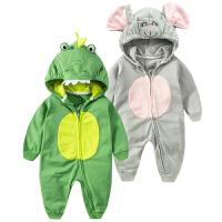婴儿连体衣服0-1岁3个月女宝宝衣服新生儿春秋装冬季卫衣外出服6